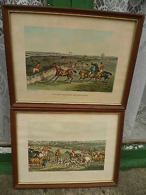 2 x  Hunting prints by H Alken: To The Craners Of England/The Meet