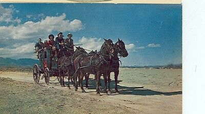 Old Stagecoach Of The West/horses 1950's Era (Th226*)