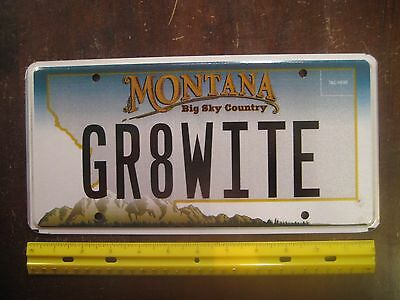 License Plate, Montana, Personalized Vanity: GR8 WITE, Great White Shark, Jaws !