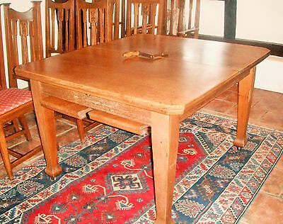 Antique Country Oak Dining Table Edwardian Extendable