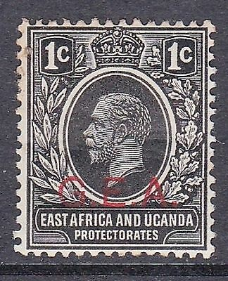1919 KGV East Africa & Uganda 1c stamp with GEA ovpt German E Africa