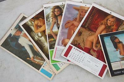 Lot 6 Vtg Calendar Lot Playboy Wall & Desk Calendar 1972 1976 1977 1975 1969 +