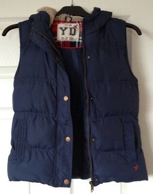 Blue  Jacket Size 10-11 years. Girls Hooded Fur Trim Padded.