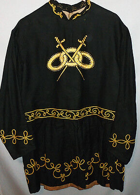 1800's -Odd Fellows- Vintage Masonic/IOOF Victorian Fraternal Costume Tunic