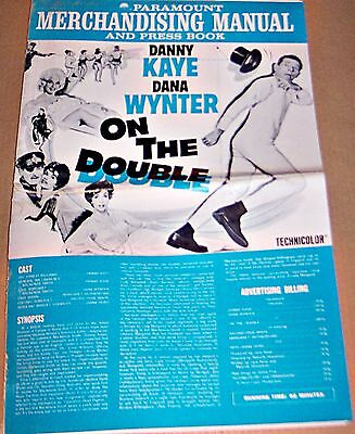 On The Double (1961) Danny Kaye Classic * Original Pressbook !