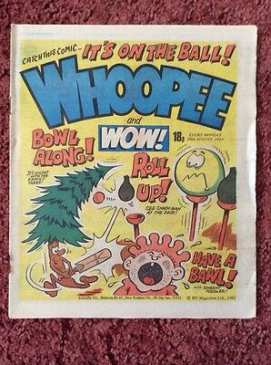 Whoopee And Wow Comic  20 August 1983. Unsold Newsagent Stock. Unread. V/fn