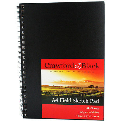 A4 Field Sketch Pad - Crawford and Black, Art & Craft, Brand New