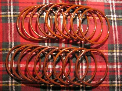 "Lot of 9 Pairs Brown Marble ~7"" Round Plastic Macrame Purse Handles Craft Ring"