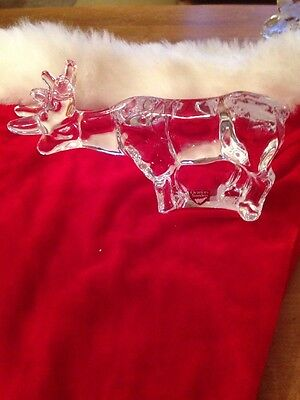 Orrefors Glass Reindeer good condition