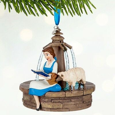 New Belle Singing Sketchbook Fountain decoration Disney New Beauty and the Beast
