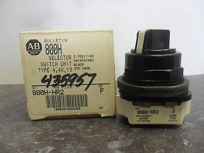 New Allen Bradley 800H-HR2 Selector Switch Series F NIB