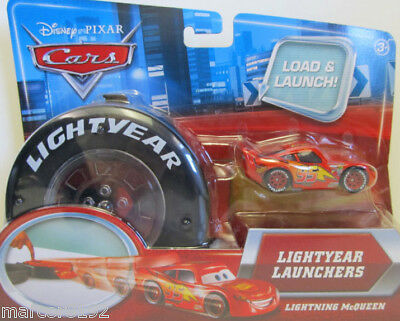 Disney Cars Load & Lunch Lightyear Launchers Lightning McQueen in Carry Case