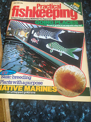 Practical Fishkeeping magazine July 1983 -Discus brood care &Breeding guppies