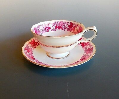 Grosvenor Bone China Jackson & Gosling Grapes and Leaf Cup and Saucer