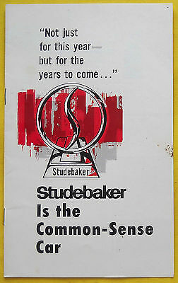 "1964 STUDEBAKER Common-Sense Car Brochure Literature ""Combined US Shipping"""