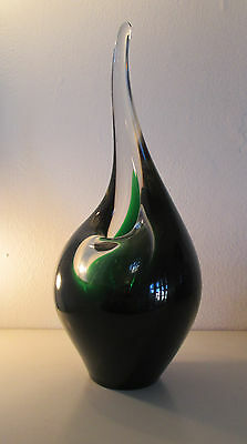 Superb Large Flamingo Orchid Vase, Per Lutken, Holmegaard, Signed, 1953