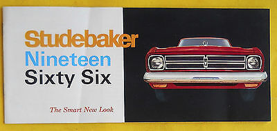 "1966 STUDEBAKER Color Brochure Literature Catalog ""Combined US Shipping"""