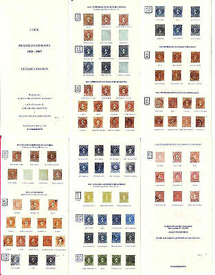 Chile (1) Color Guide , First Chilean Stamps 1853-1867