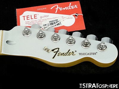 """Fender Standard Telecaster Tele NECK + TUNERS """"C"""" Maple Special White Opal!"""
