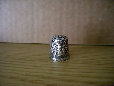 Silver Thimble  Swann  Birmingham 1989 Collectors Guild Lovely Example