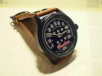 Indian Motorcycles Classic Corbin Speedometer Style Wrist Watch 1920' -30s Style