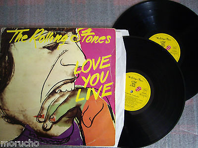 THE ROLLING STONES: LOVE YOU LIVE Doble(2) Lp  Vinyl  Vinilo Spain 1979