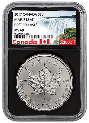 2017 Canada $5 1 oz Silver Maple Leaf NGC MS69 FR Excl Label Black Core SKU44182