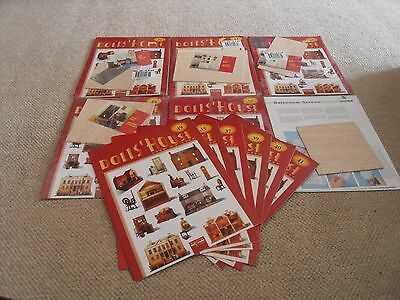 A selection of dolls' house magazines- some with furniture cutouts