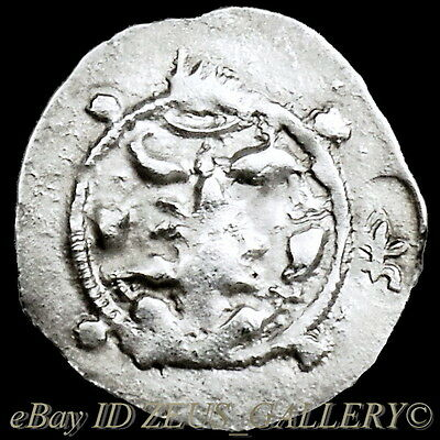 """Scarce HUNNIC TRIBES""""The Huns"""" Hephthalites Ancient Silver Coin BIG Drachm 500AD"""