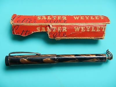 LETTER SCALES - 'WEYLET' like Vintage fountain Pen.RARE-SALTER-ENGLAND-Working