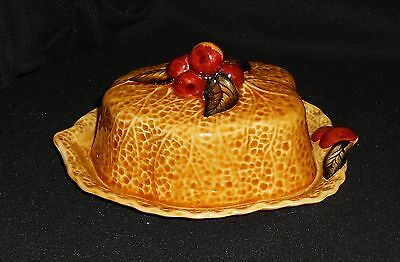 Shorter & Son Cherry Design Covered Cheese or Butter Dish