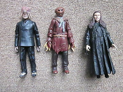 """3 x 5"""" DOCTOR WHO ACTION FIGURES: SCARECROW, LILETH & DALEK SEC: DR.WHO."""