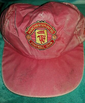 Vintage Manchester United Autographed Baseball Cap