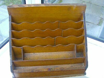 Antique Wooden stationery Box Cabinet pull out drawer and secret compartment