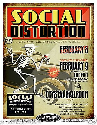"Social Distortion / Lucero ""hard Tales Of Rock 'n Roll"" 2011 Concert Tour Poster"