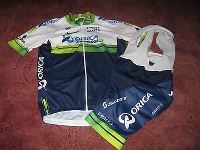Orica Greenedge Jayco Scott Craft Cycling Jersey & Bib Shorts [S]