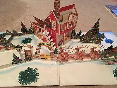 A Christmas Present Ronco Vinyl LP with Pop Up Christmas Scene VG/EX