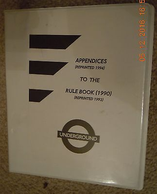 London Underground Rule Book Appendix 11 - Working Of Trains On All Lines
