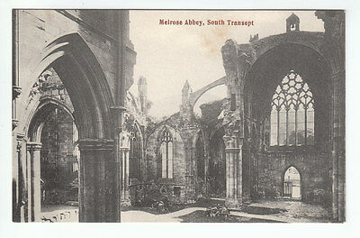 South Transept Melrose Abbey Roxburgh Early 1900's GWW Old Postcard Unposted