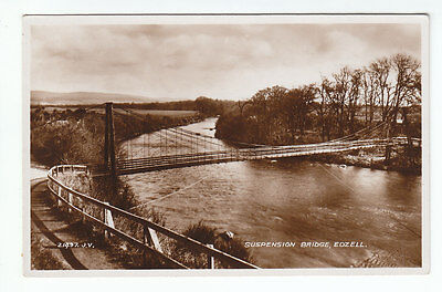 Suspension Bridge Edzell Angus 1894 Real Photograph Valentines 21497 Scotland