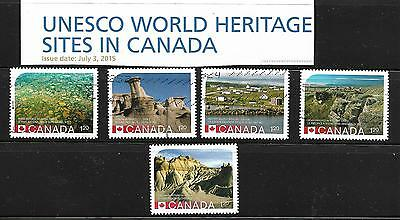 Lot#  82 Canada  2015   Used 5    Stamps