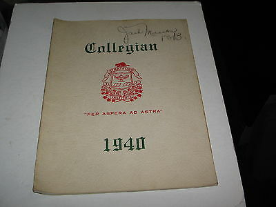 """1940 Stratford,ontario  """"collegian"""" School Year Books 76 Pages"""