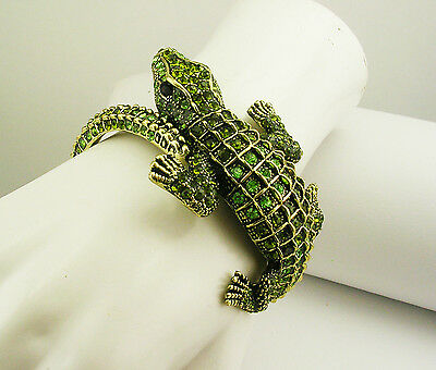 """Kenneth Jay Lane Alligator Bracelet """"Couture Collection"""" MADE IN USA"""