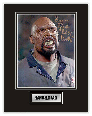 •Sale• Land Of The Dead Eugene Clark (Big Daddy Zombie) Signed 14x11 Display