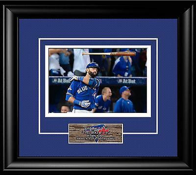 Jose Bautista Bat Flip Mlb Baseball Toronto Blue Jays.