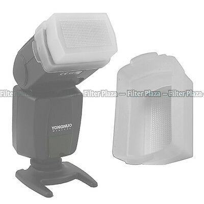 Flash Rebote Softbox Difusor Cap para Canon Speedlite 420EX Blanco