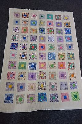 1940's Crib Quilt-EAST TO EDEN Pattern- 33x48-VG- Lots of Quilting-PRETTY- SALE