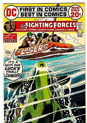 OUR FIGHTING FORCES #138 The LOSERS Joe Kubert HALF A MAN 1972 DC COMICS VG