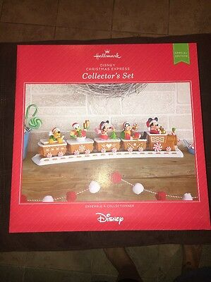 Disney Christmas Express Collector's Set - 2016 Hallmark - Limited Edition Train