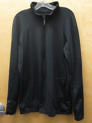 GAP FIT MATERNITY Black Long Sleeve Full Zip Athletic Style Jacket